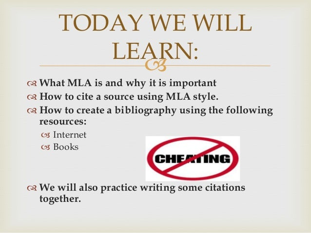 How to write a mla bibliography worksheet