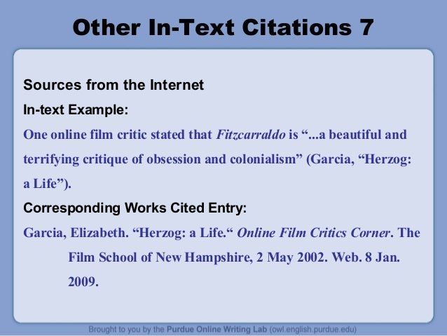 mla format citing a movie in text