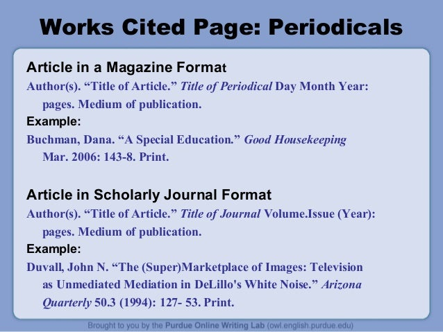 works cited online article