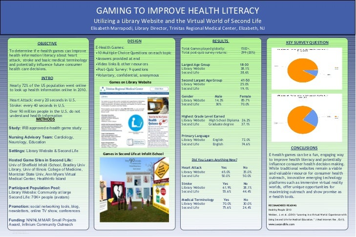 GAMING TO IMPROVE HEALTH LITERACY                                                            Utilizing a Library Website a...