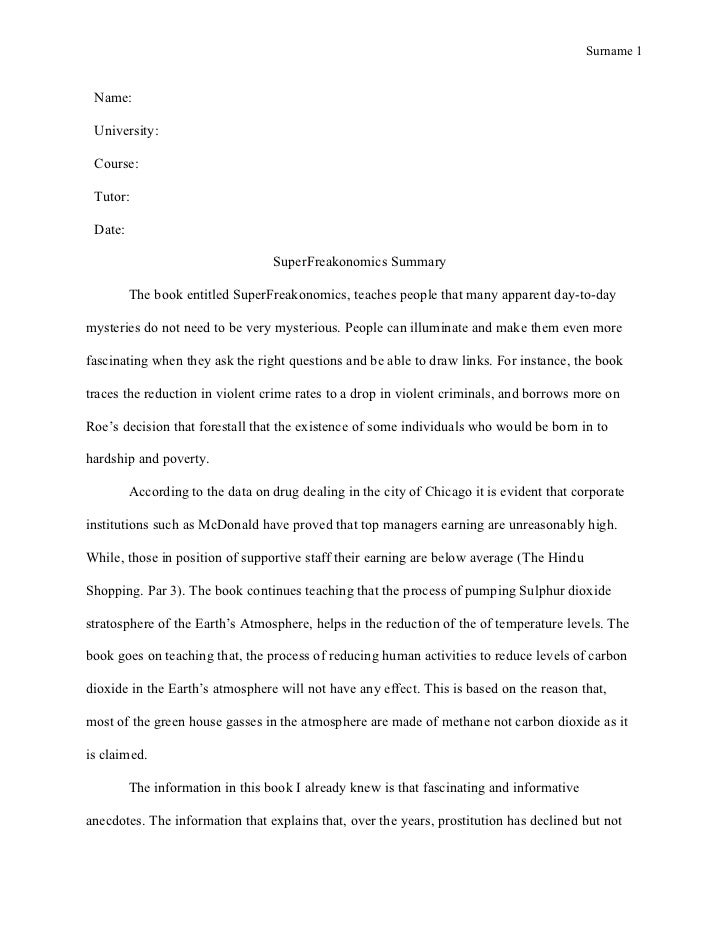 writing an essay report style paper