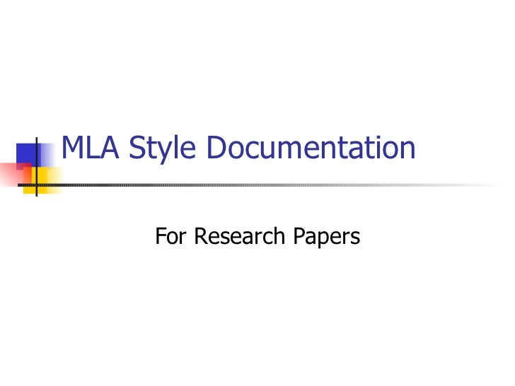 MLA Style Documentation For Research Papers