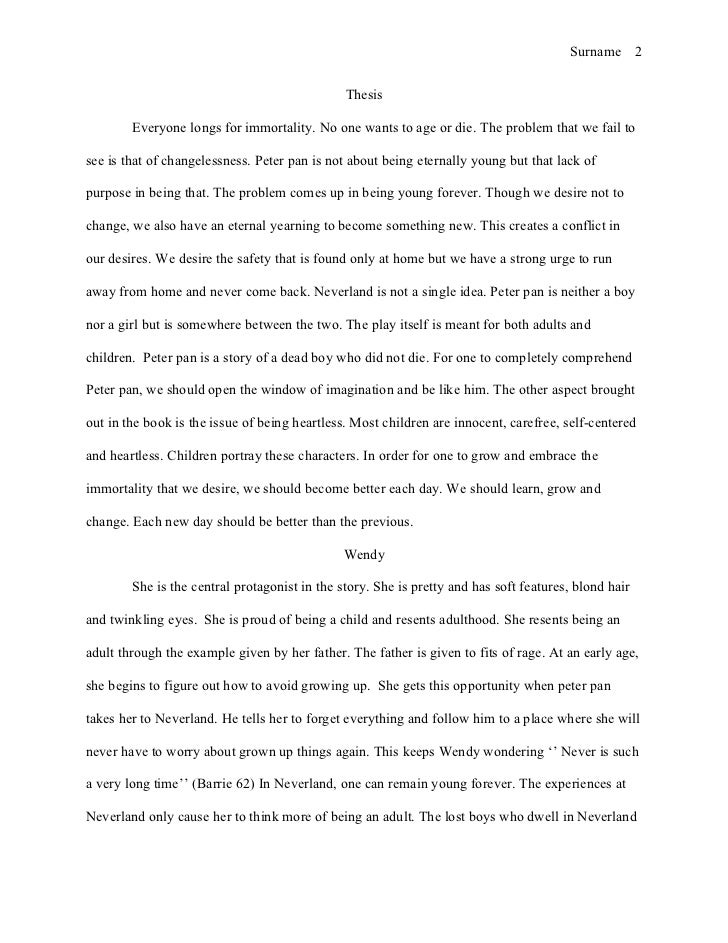 peter pan essay  patimxtl peter pan essay