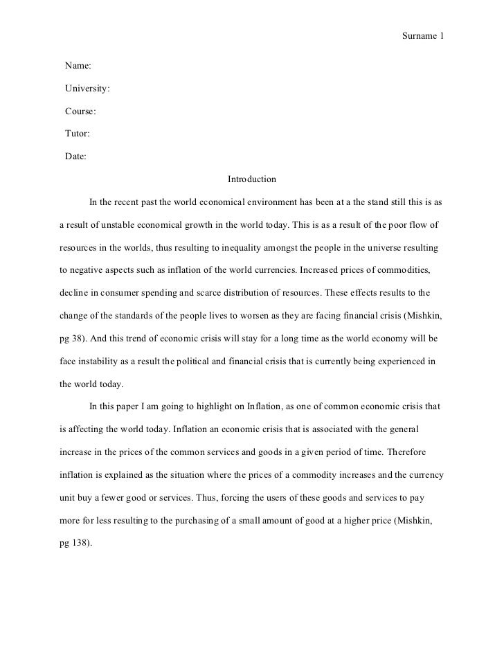 5 page essay outline