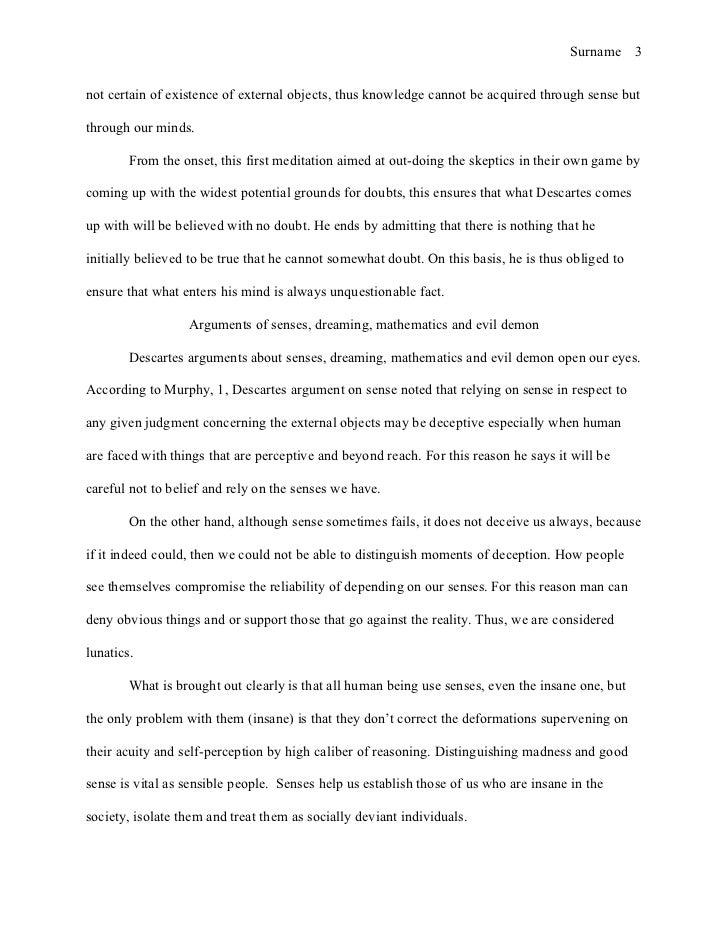 human senses essay