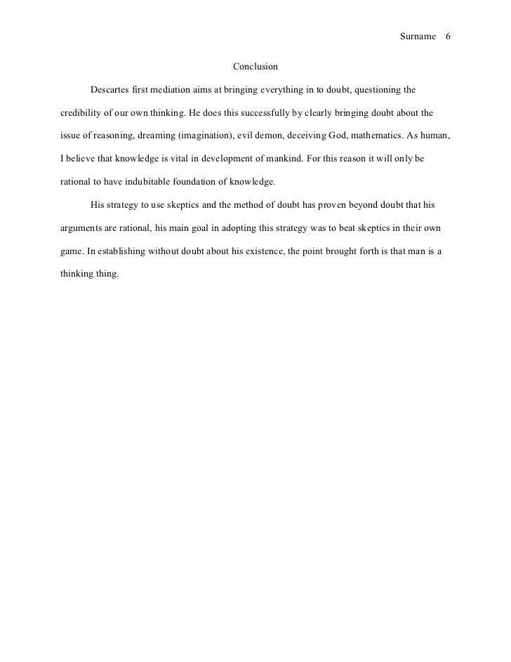 example of reflective essay conclusions