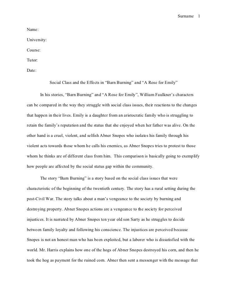 Barn burning william faulkner essay