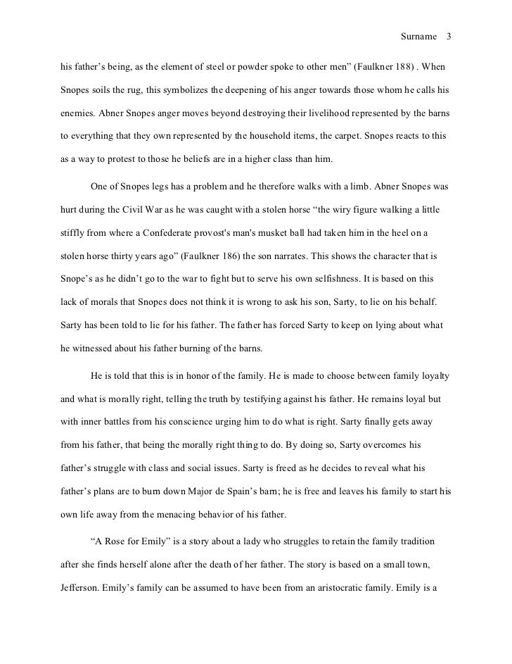 mla style essay william faulkner  3