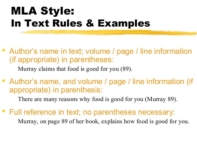 mla rules for parathesis Mla in-text citations should instead follow the parentheses redundant and is not required for mla citation the same rule about inclusion of the.