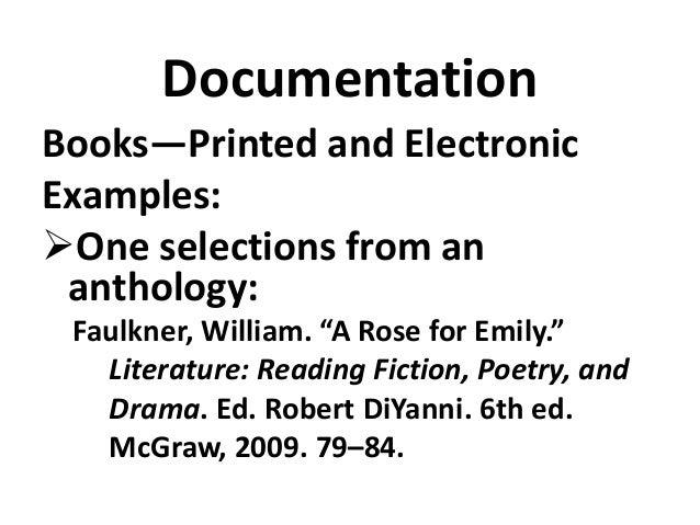 Mla style guide seminar8th ed brief version