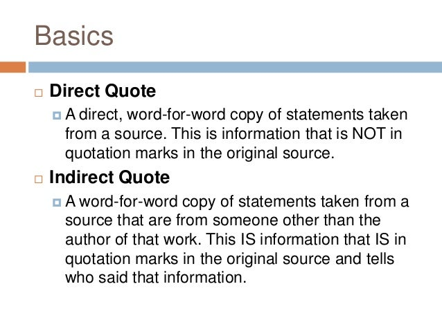 quotation in mla