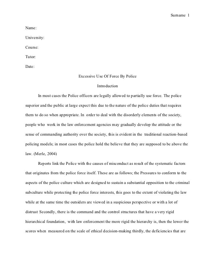 research on police brutality original content branding dissertation subjects