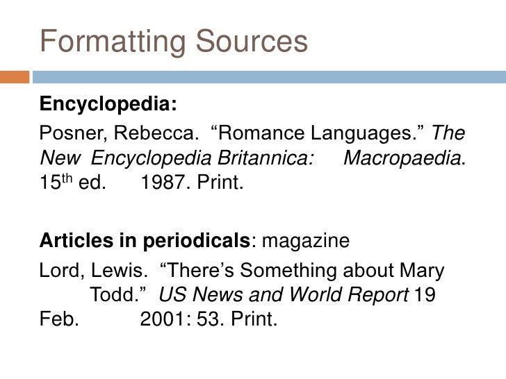Apa Format For Dictionary Reference In Text. Mla In Text Citations ...