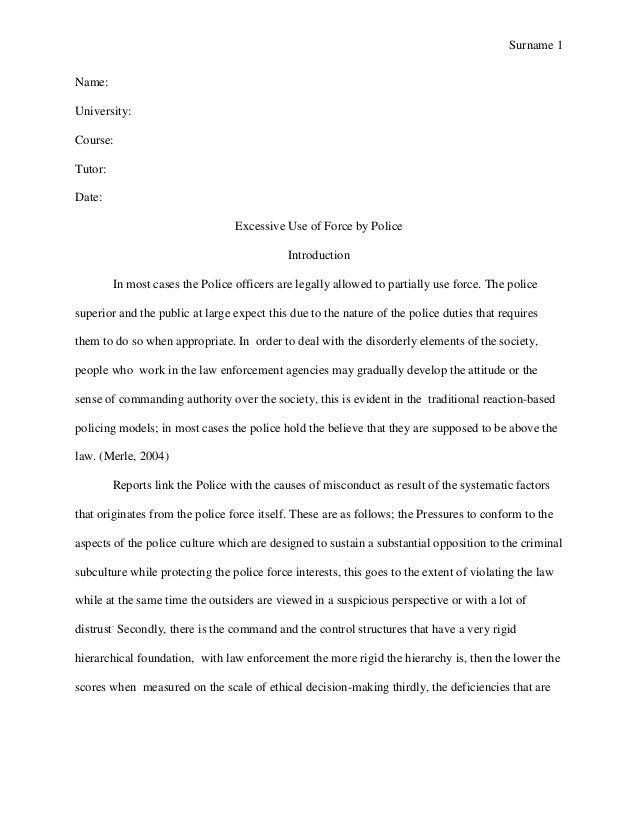 Essay on precedent