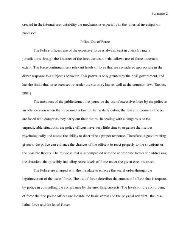 Police brutality introduction essay samples