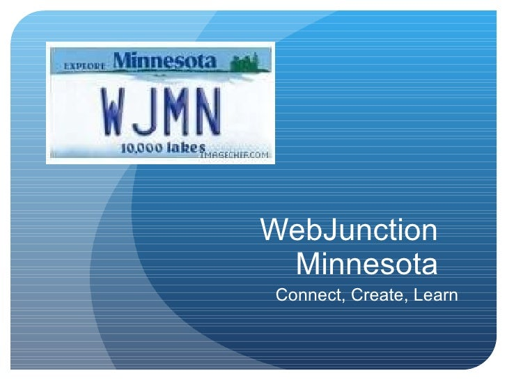 WebJunction Minnesota Connect, Create, Learn