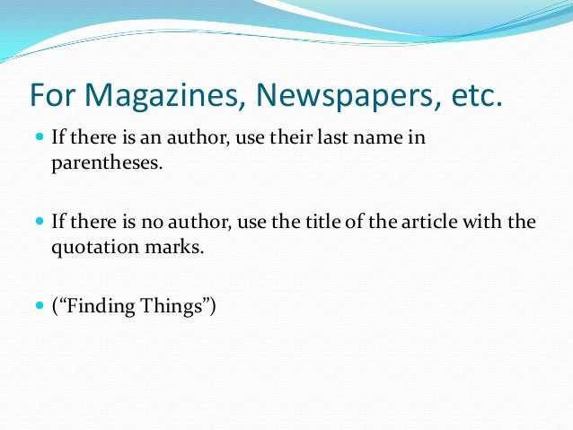 mla formatting citations What you are citing in-text citation the entire work (or a work that has no page numbers) include information in the text of your paper that will allow the reader to locate the source in your works cited list.