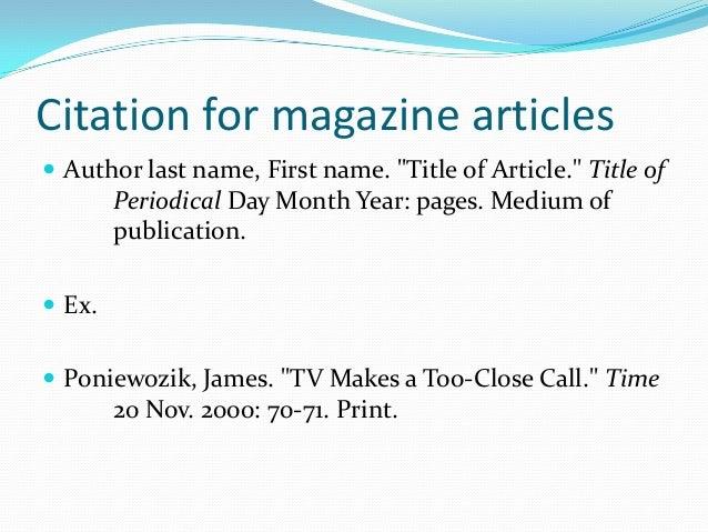 mla citations and formatting basics