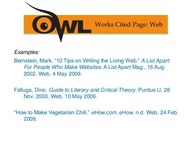 work cited pages for websites - Petit.comingoutpoly.co