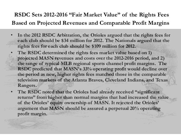 """RSDC Sets 2012-2016 """"Fair Market Value"""" of the Rights Fees Based on Projected Revenues and Comparable Profit Margins • In ..."""