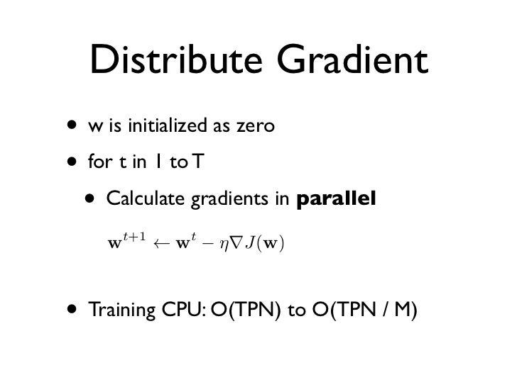 Parallelize Subroutines• Support Vector Machines                 1                                         n              ...