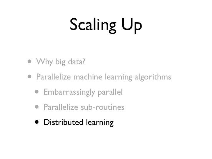 Parameter Mixture                     [Mann et al, 2009]                     Big Data Shard 1   Shard 2   Shard 3    ...  ...