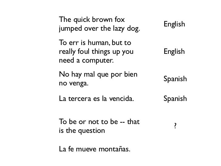 The quick brown fox                                           English           jumped over the lazy dog.           To err...
