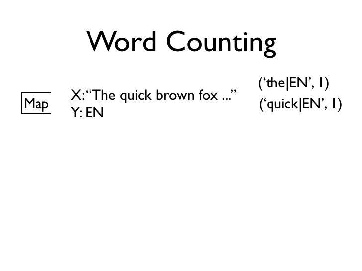 Word Counting                    Big DataShard 1   Shard 2   Shard 3    ...   Shard M