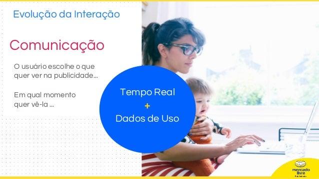 Comunicação O usuário escolhe o que quer ver na publicidade... Em qual momento quer vê-la ... Tempo Real + Dados de Uso Ev...