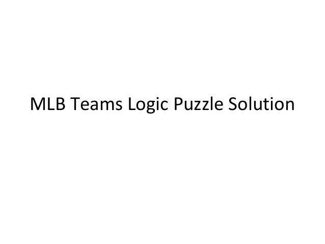 MLB Teams Logic Puzzle Solution