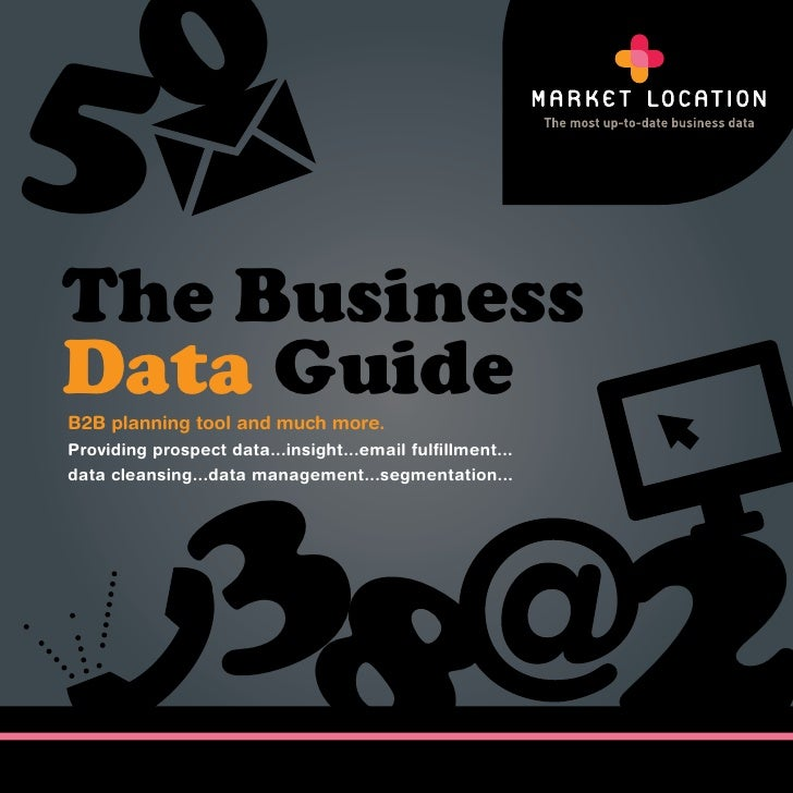 5 0The BusinessData GuideB2B planning tool and much more.                   3                                       2Provi...