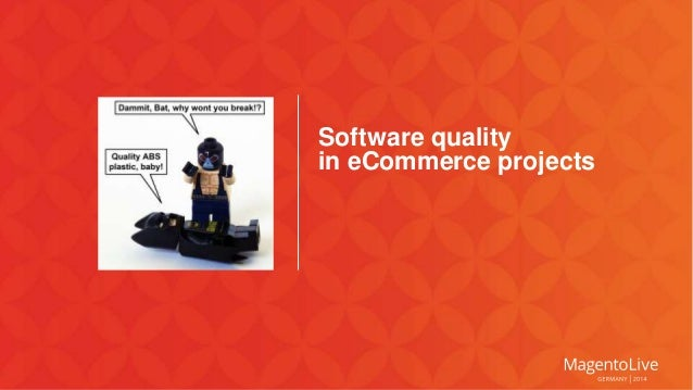 Software quality  in eCommerce projects