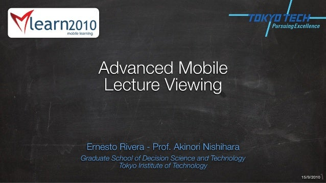 Advanced Mobile Lecture Viewing: Summarization and Two-way Navigation