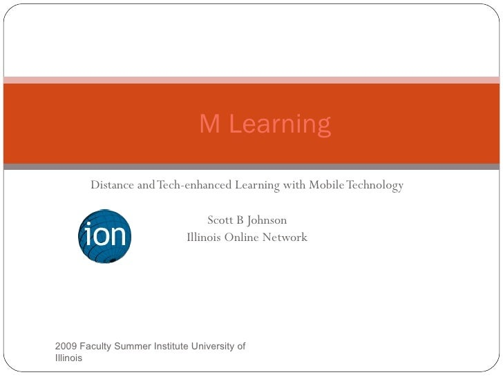 M Learning          Distance and Tech-enhanced Learning with Mobile Technology                                    Scott B ...