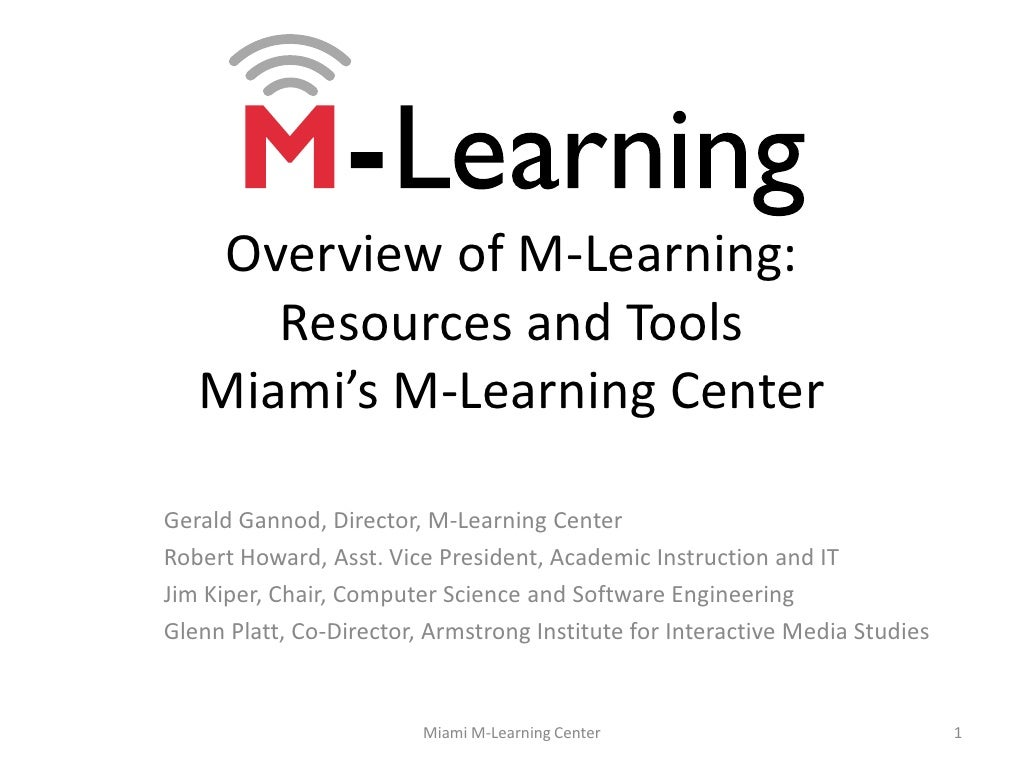 M-learning overview