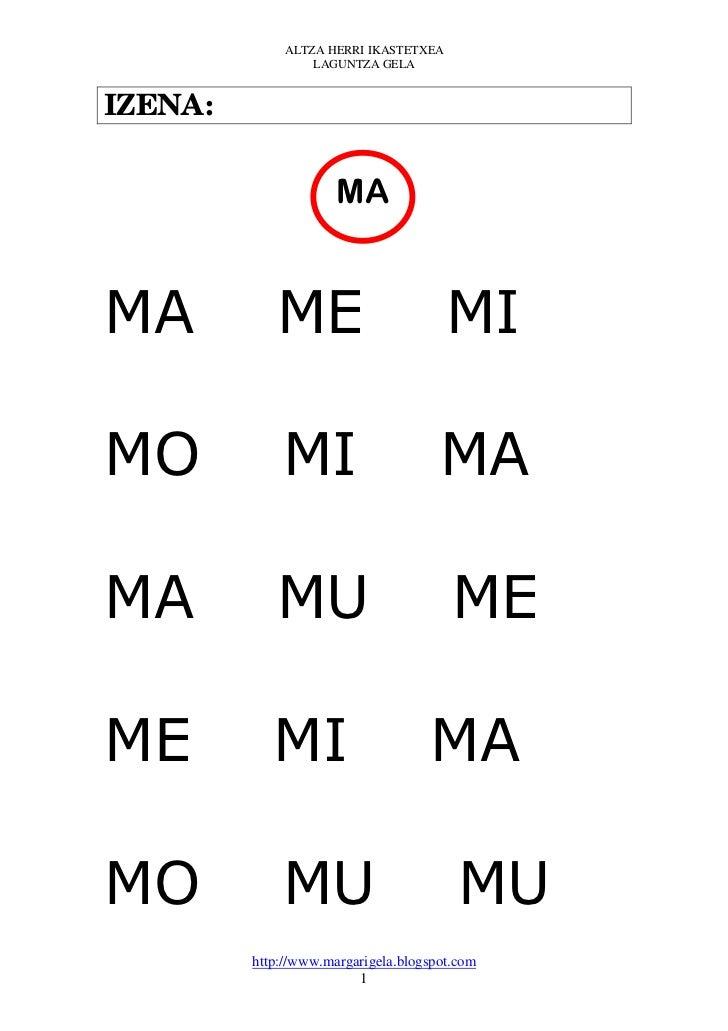 ALTZA HERRI IKASTETXEA                  LAGUNTZA GELAIZENA:                      MAMA          ME                         ...