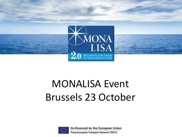 MONALISA Event Brussels 23 October
