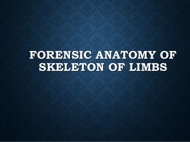 medico legal importance of bones essay Syllabus for md forensic medicine (a) forensic pathology of forensic importance, skeletal remains, bones of medico legal importance and.