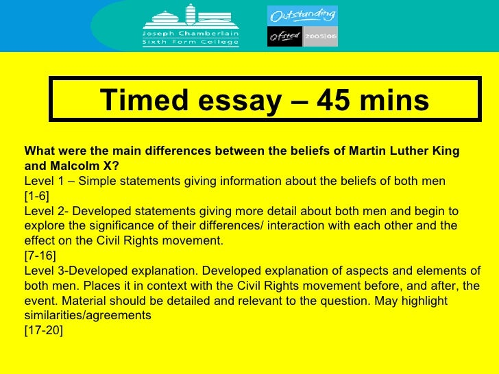 Malcolm x martin luther king comparison essay conclusion