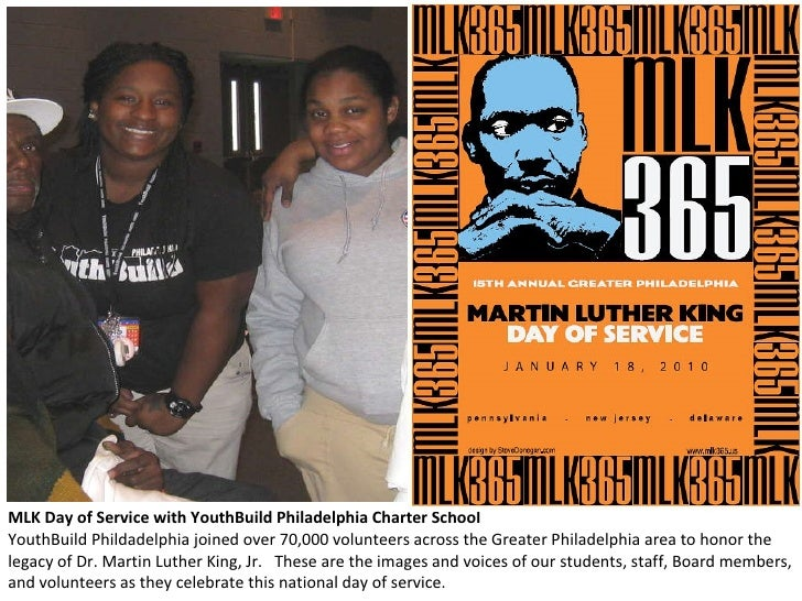 MLK Day of Service with YouthBuild Philadelphia Charter School YouthBuild Phildadelphia joined over 70,000 volunteers acro...