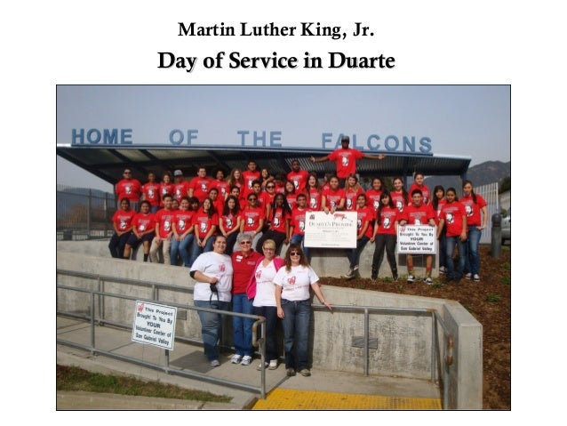 Martin Luther King, Jr.Day of Service in Duarte
