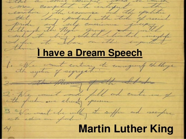 Martin Luther King Jr. Speech Visual Aid