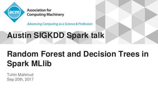 Apache Spark MLlib - Random Foreset and Desicion Trees