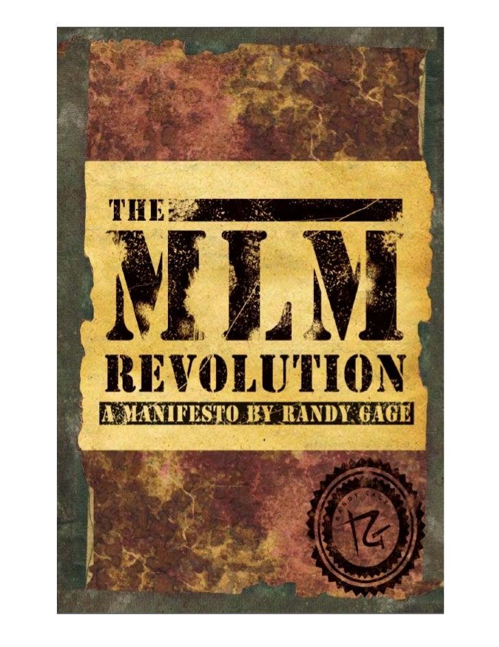 La Revolución del MMN: Un Manifiesto por Randy Gage           ...