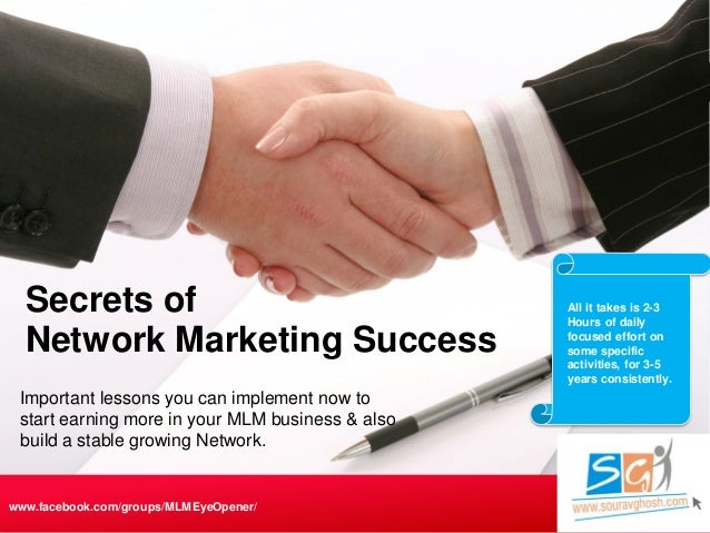 Important lessons you can implement now to start earning more in your MLM business & also build a stable growing Network. ...