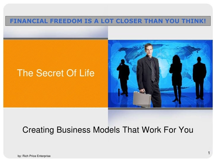 Start Your Own Business Today<br />Creating Business Models That Work For You<br />1<br />Business Opportunity<br />by: Ri...
