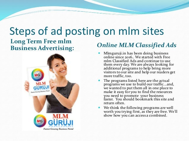 Post your mlm Advertisement 100% Free