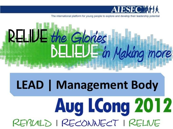 LEAD | Management Body