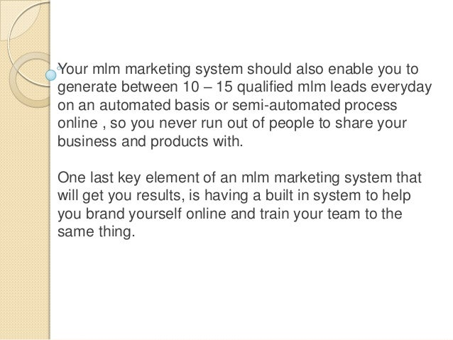 Proven Mlm Marketing System Revealed