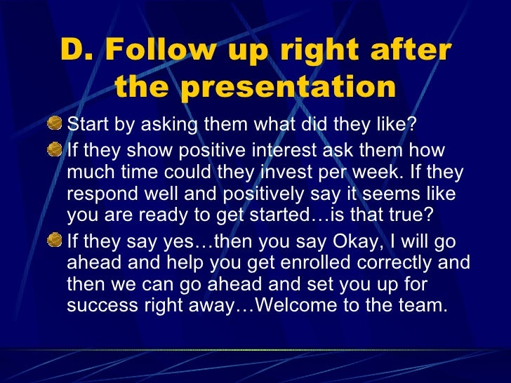 Mlm network marketing duplication blueprint 6 d follow up malvernweather Images